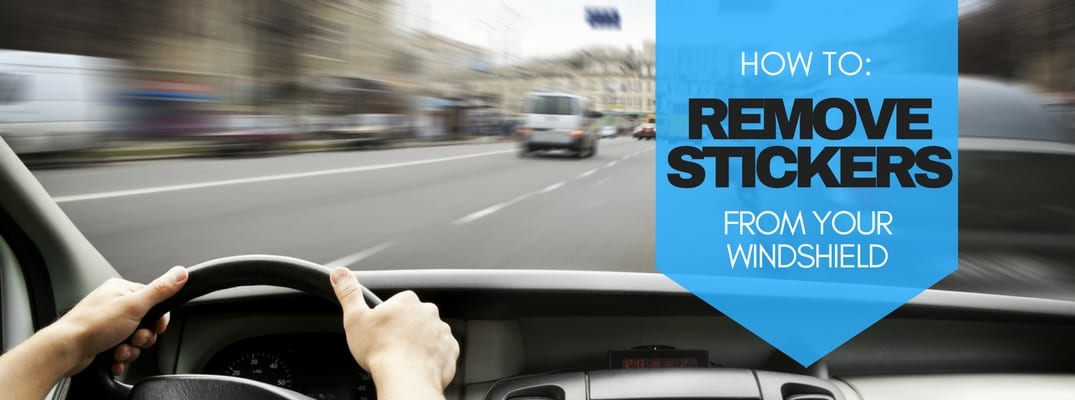 How to remove stickers from your windshield?